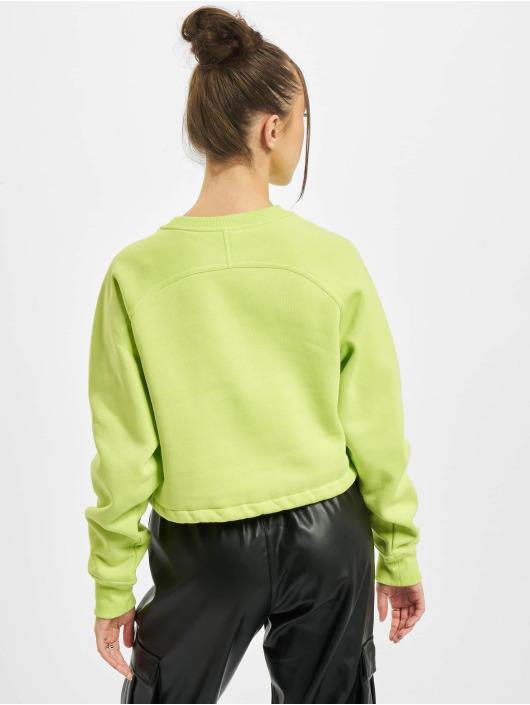 Urban Classics Sweat & Pull Ladies Oversized Short Raglan Crew jaune