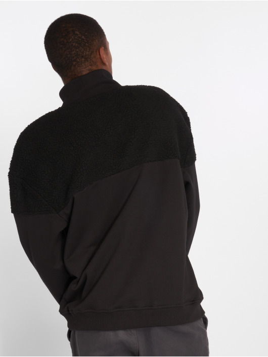 Urban Classics Sweat & Pull Oversize Sherpa noir