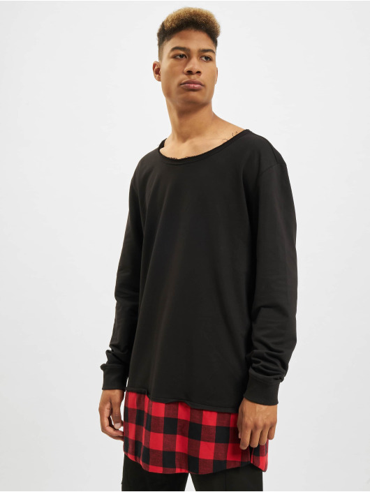 Urban Classics Sweat & Pull Long Flanell Bottom Open Edge noir