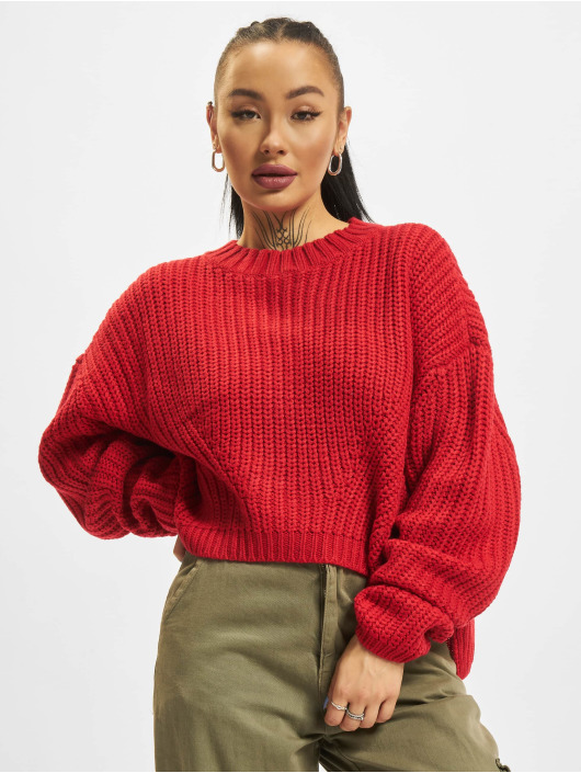 Urban Classics Sweat & Pull Wide Oversize rouge