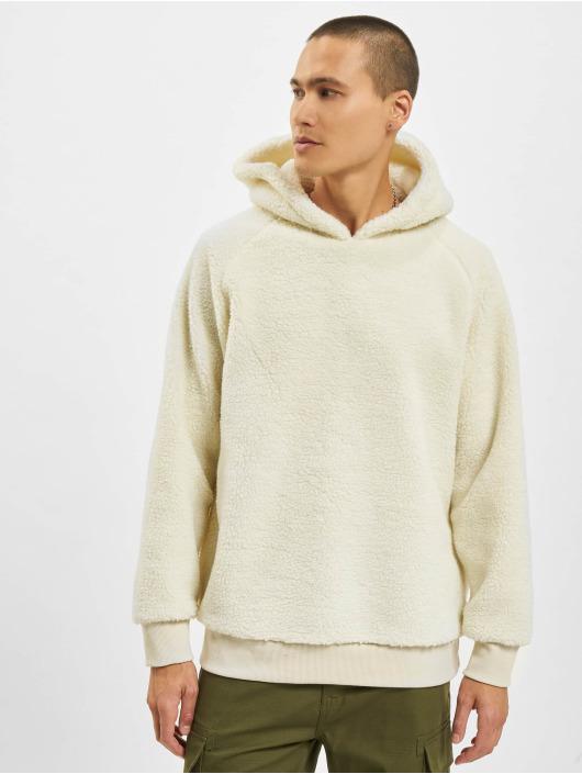 Urban Classics Sweat capuche Sherpa blanc
