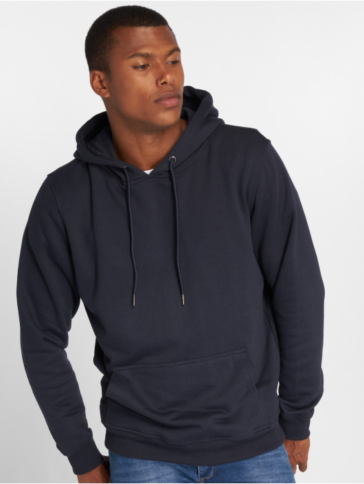 Urban Classics Sweat capuche Back Stripe bleu