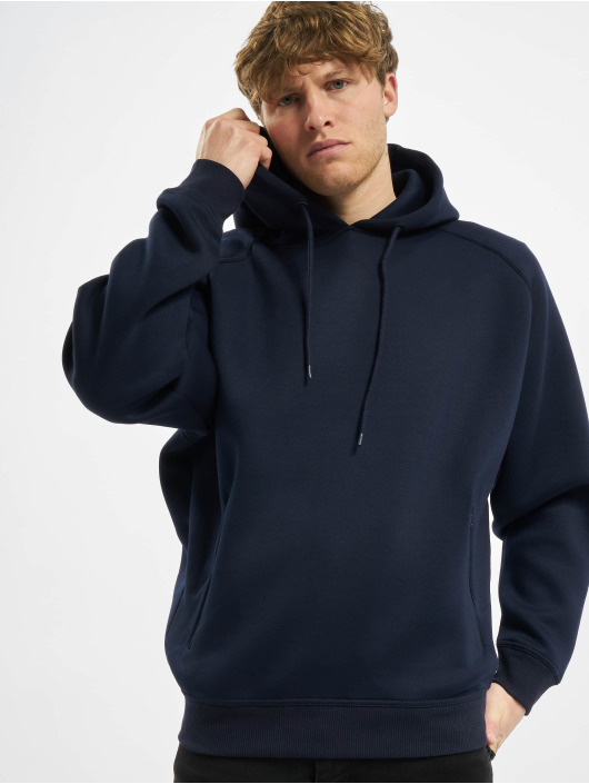 Urban Classics Sweat capuche Raglan Zip Pocket bleu