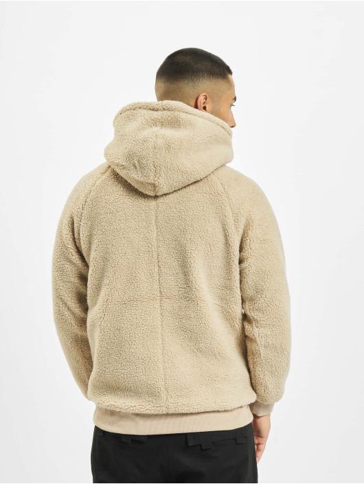 Urban Classics Sweat capuche Sherpa brun