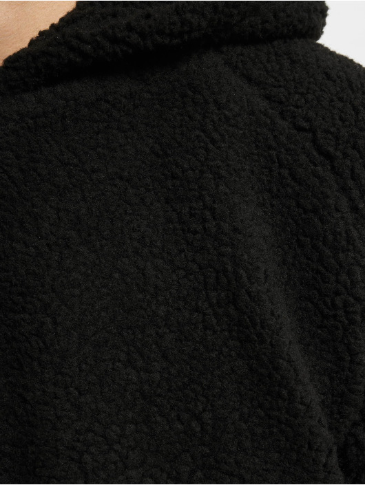 Urban Classics Sweat capuche Sherpa noir