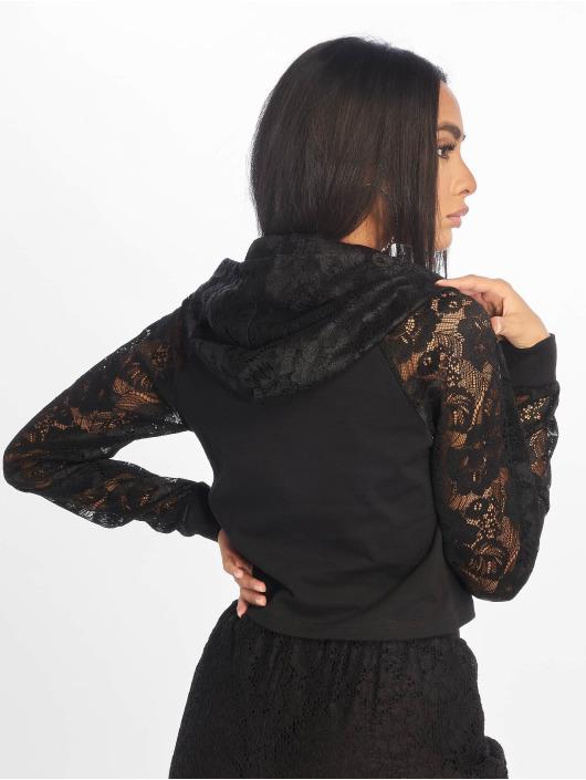 Femme Sweat Noir Short Capuche Classics 637518 Urban OPv0w8ymNn