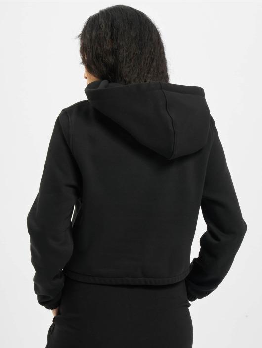 Urban Classics Sweat capuche Ladies Contrast Drawstring noir