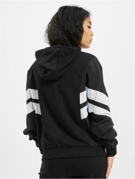 Urban Classics Sweat capuche Ladies Mix Crinkle Nylon noir
