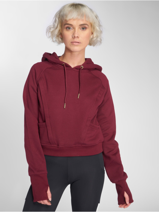 Urban Classics Sweat capuche Thumb Hole rouge