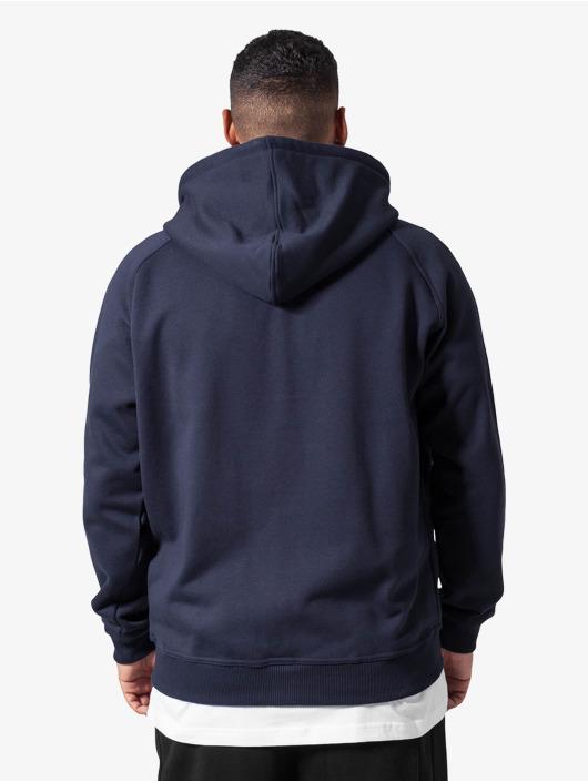 Urban Classics Sweat capuche zippé Blank bleu
