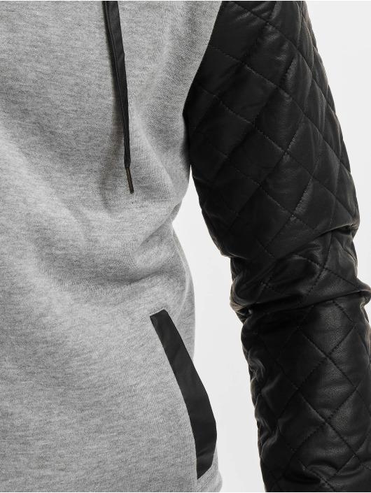 Leather Gris Classics Homme Zippé Diamond 133199 Urban Capuche Sweat Imitation wXOk8n0P