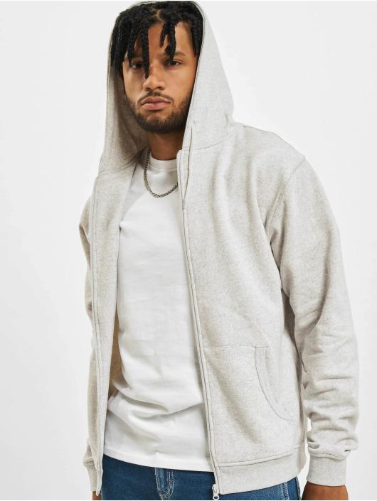 Urban Classics Sweat capuche zippé Melange gris