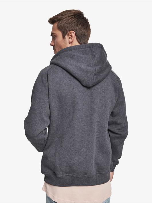 Urban Classics Sweat capuche zippé Blank gris