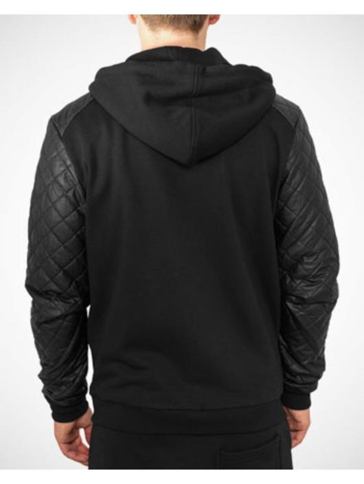 Diamond Capuche Noir Homme Classics Zippé Urban Leather 133200 Imitation Sweat HDW2IE9