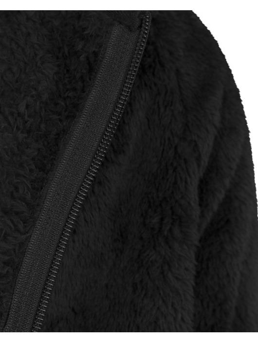 Urban Classics Sweat capuche zippé Teddy noir