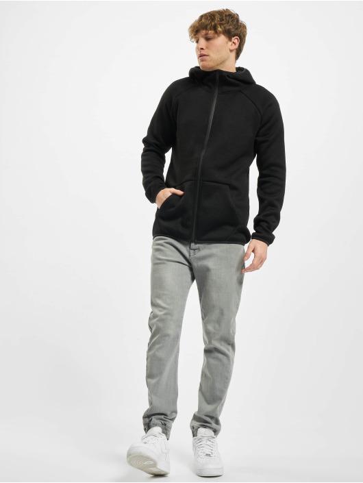 Urban Classics Sweat capuche zippé Knit Fleece noir