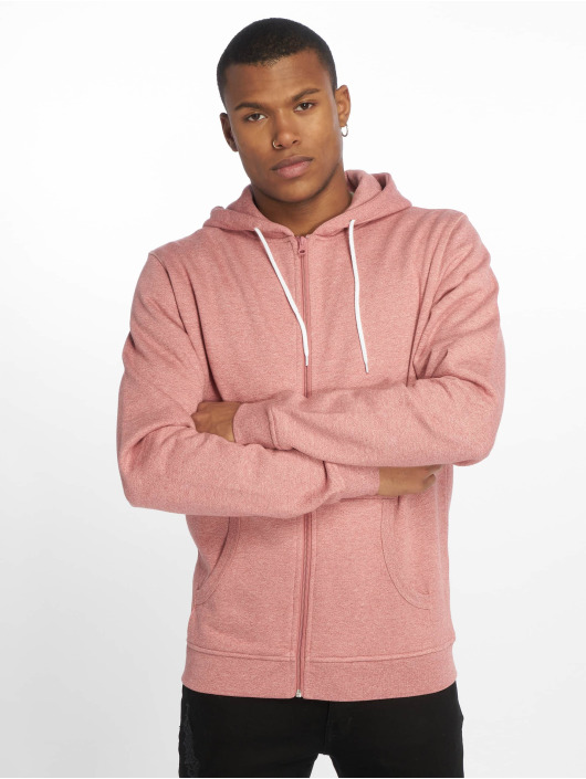 Urban Classics Sweat capuche zippé Melange rose