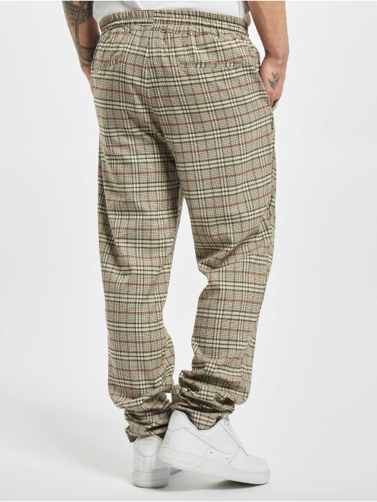 Urban Classics Sweat Pant Tapered Check beige
