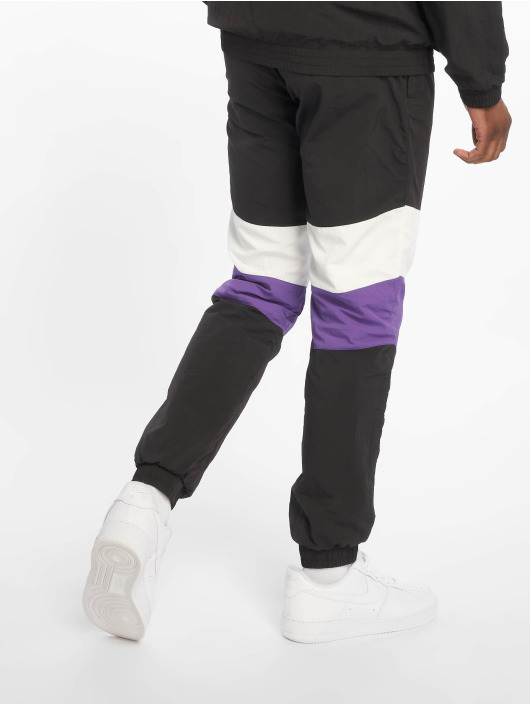 Urban Classics Sweat Pant 3-Tone Crinkle black