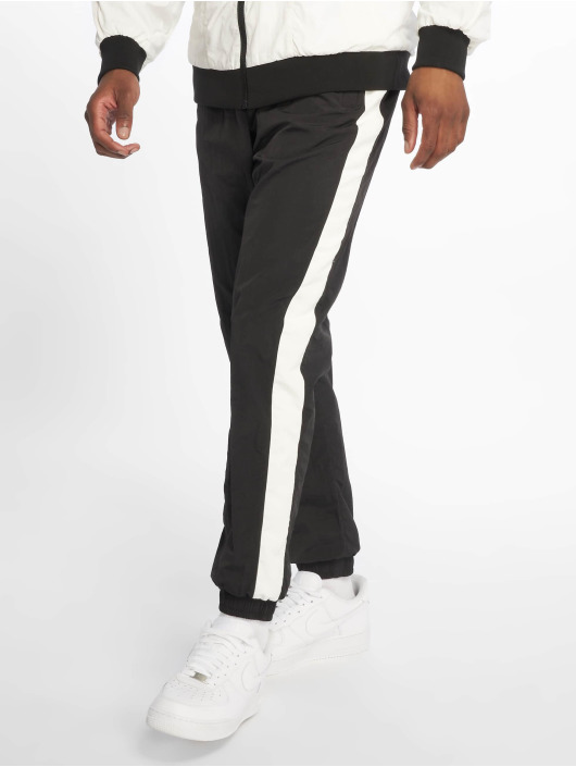 Urban Classics Sweat Pant Side Striped Crinkle black