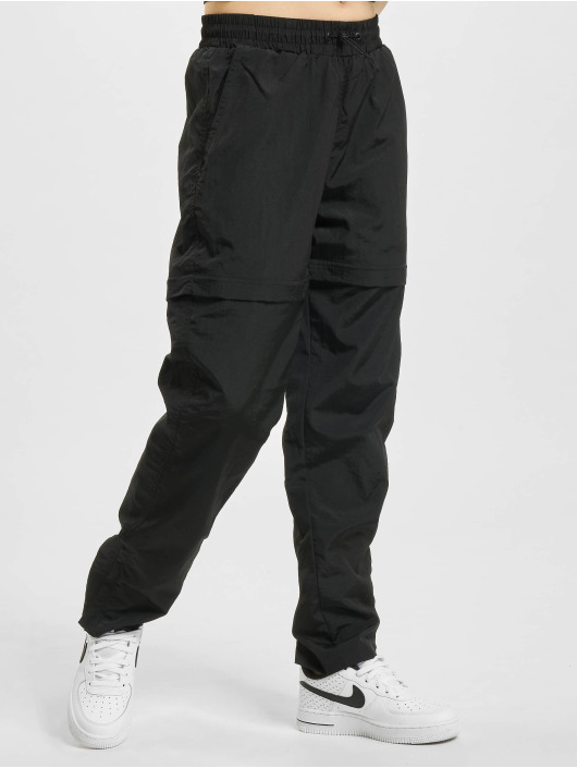 Urban Classics Sweat Pant Shiny Crinkle Nylon Zip black