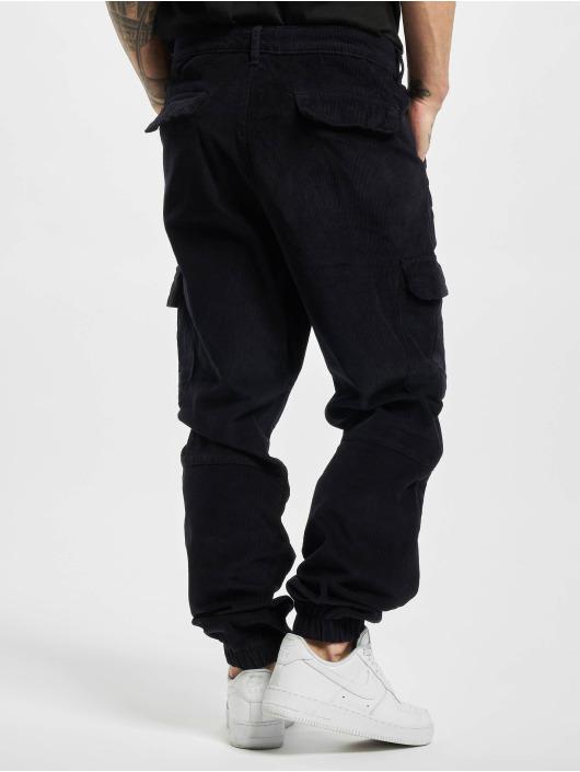 Urban Classics Sweat Pant Corduroy Cargo blue