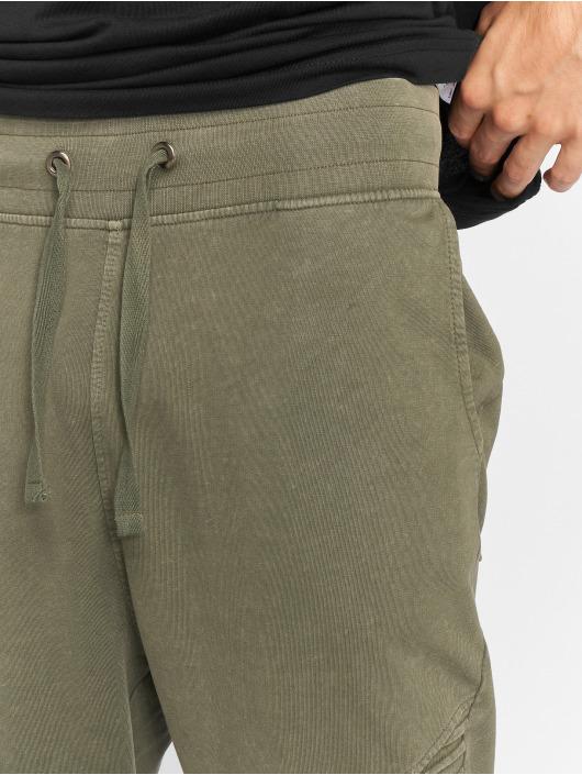 Urban Classics Sweat Pant Acid Wash Terry Biker olive