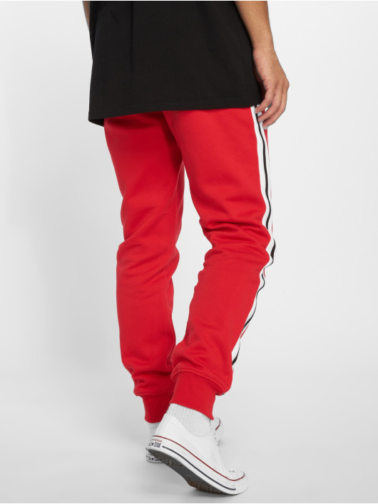 Urban Classics Sweat Pant 3-Tone Side Stripe Terry red