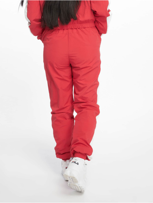 Urban Classics Sweat Pant Striped Crinkle red