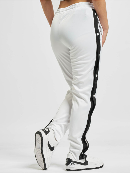 Urban Classics Sweat Pant Button Up white