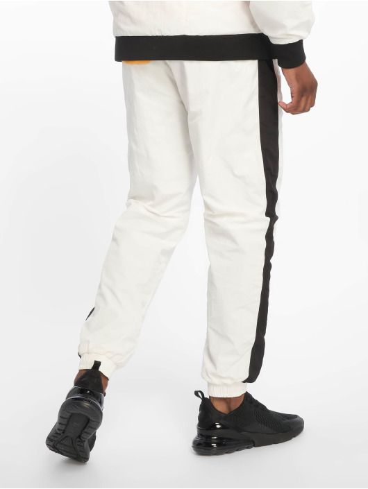 Urban Classics Sweat Pant Side Striped Crinkle white