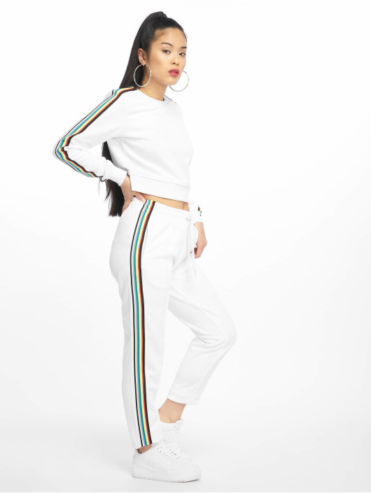 Urban Classics Sweat Pant Multicolor Side Taped white
