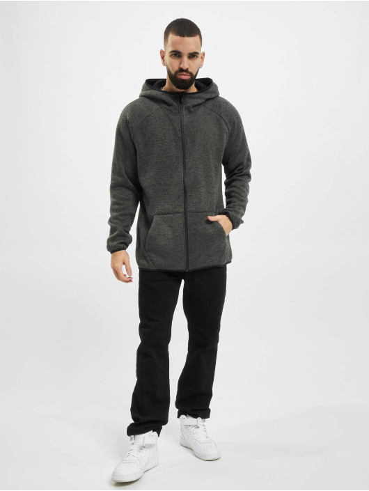 Urban Classics Sweatvest Knit Fleece grijs