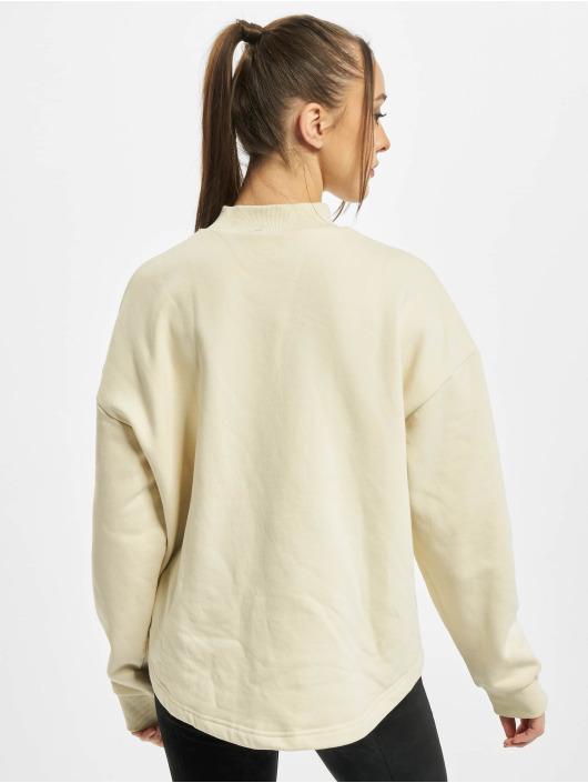 Urban Classics Swetry Ladies Oversized High Neck Crew bezowy