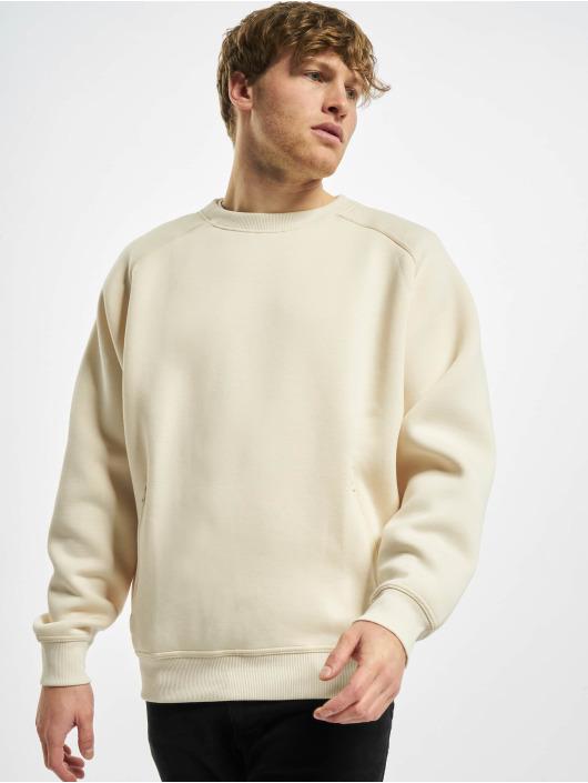 Urban Classics Swetry Raglan Zip Pocket Crew bezowy