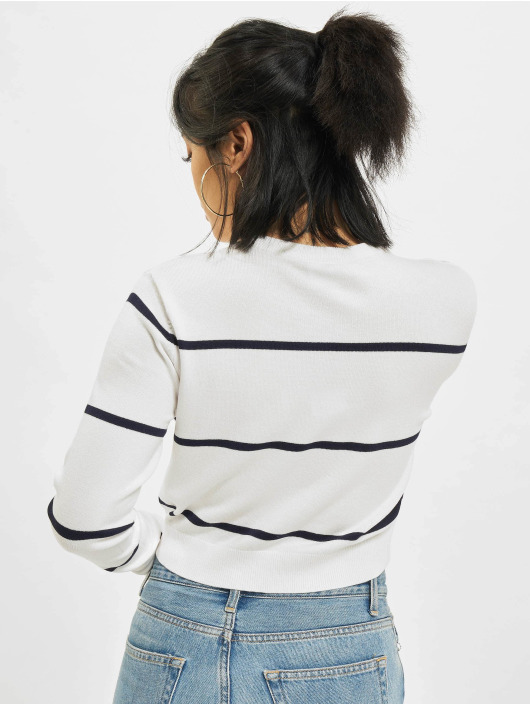 Urban Classics Swetry Short Striped bialy