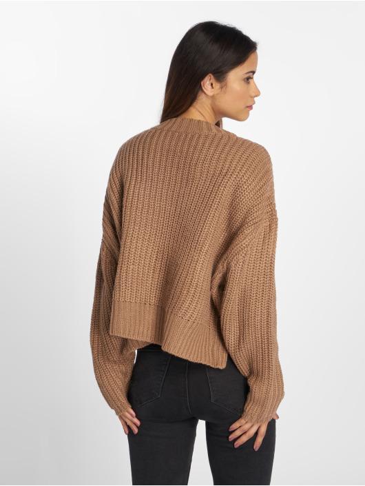 Urban Classics Swetry Wide Oversize brazowy