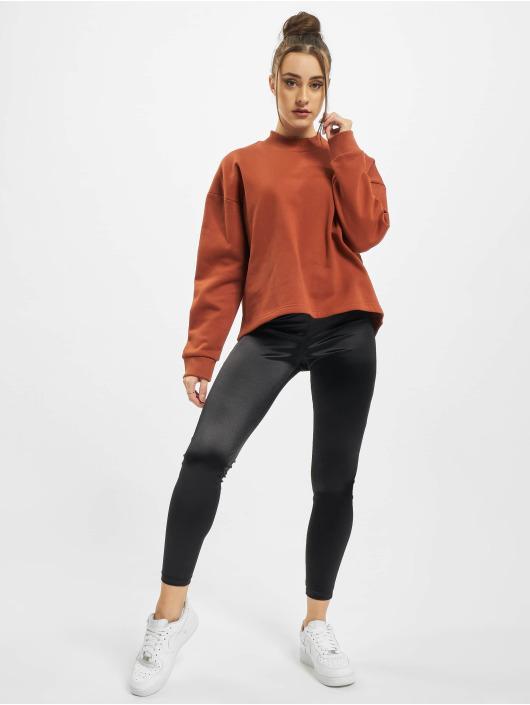 Urban Classics Swetry Ladies Oversized High Neck brazowy