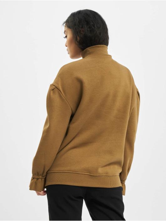 Urban Classics Swetry Ladies Turtleneck brazowy