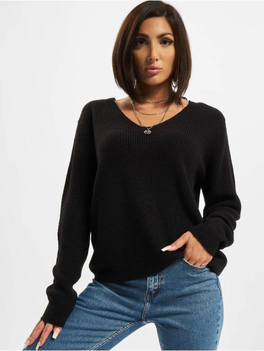 Urban Classics Swetry Back Lace Up czarny