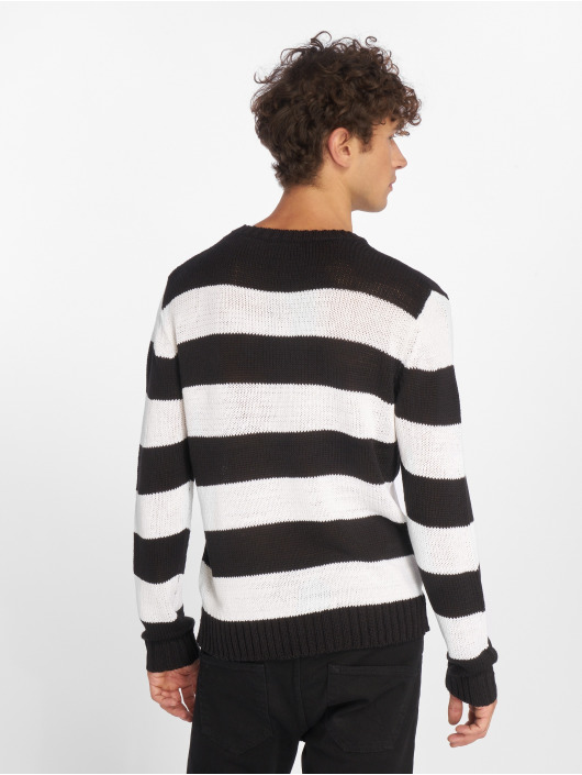 Urban Classics Swetry Striped czarny