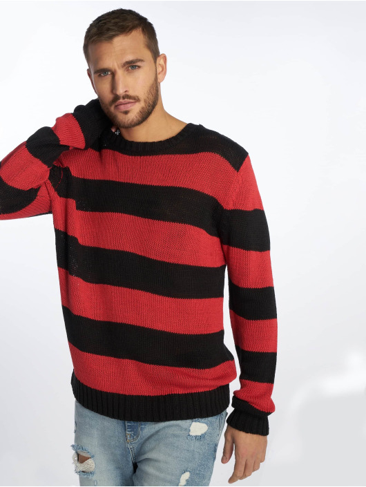 Urban Classics Swetry Striped czarny
