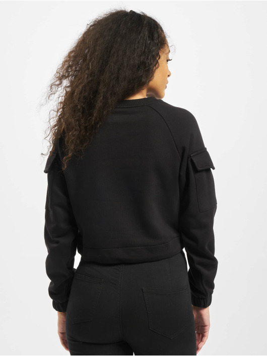 Urban Classics Swetry Ladies Short Worker Crewneck czarny
