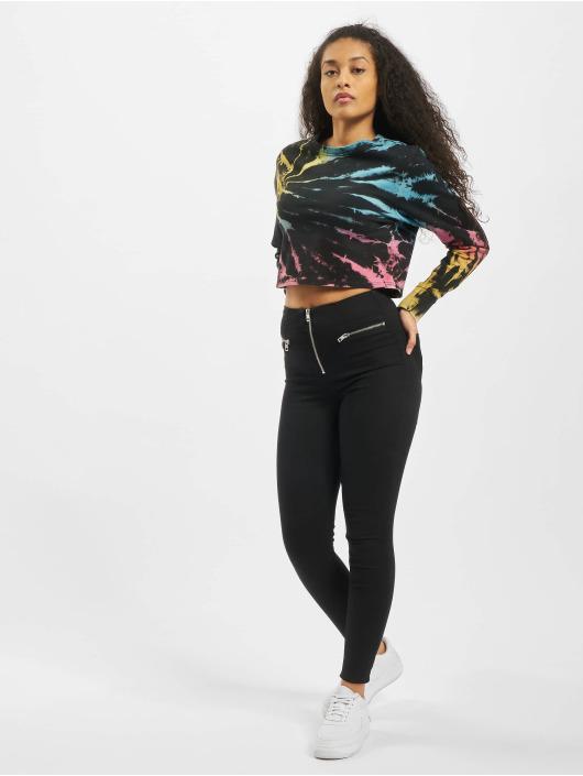 Urban Classics Swetry Ladies Tie Dye Cropped czarny