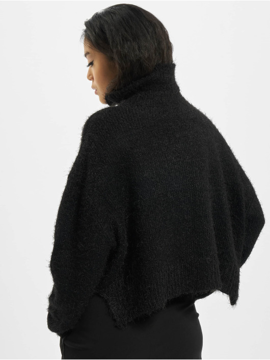 Urban Classics Swetry Oversized Turtleneck Feather czarny