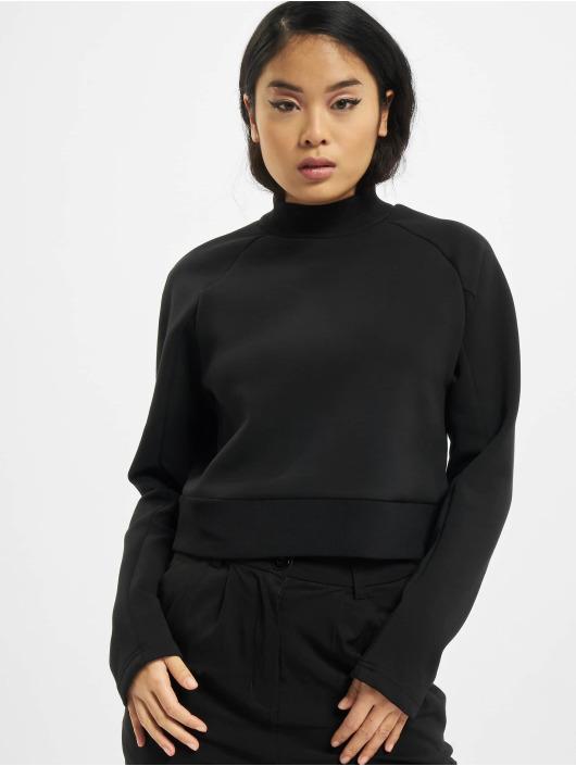 Urban Classics Swetry Ladies Interlock Short czarny