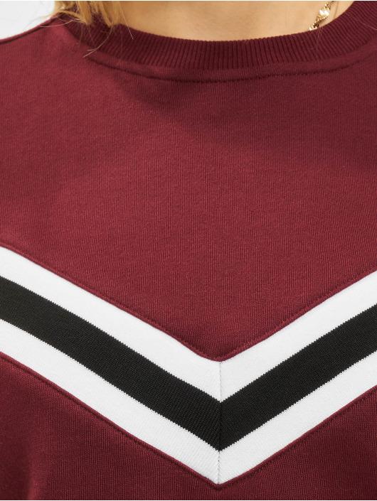 Urban Classics Swetry Inset Striped czerwony