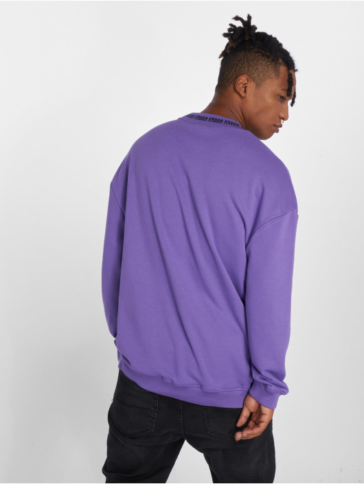 Urban Classics Swetry Oversize Logo fioletowy