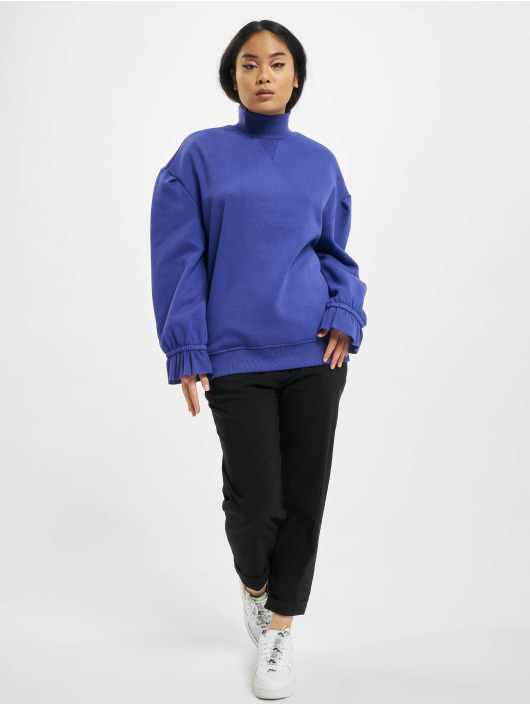 Urban Classics Swetry Ladies Turtleneck fioletowy