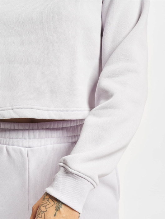 Urban Classics Swetry Ladies Cropped Oversized High Neck Crew fioletowy